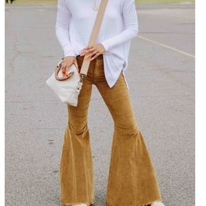 Free People Just Float On Corduroy Flare Jeans NWO